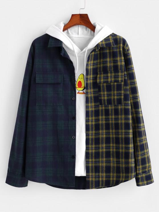 buy Two Tone Plaid Shirt - MULTI L