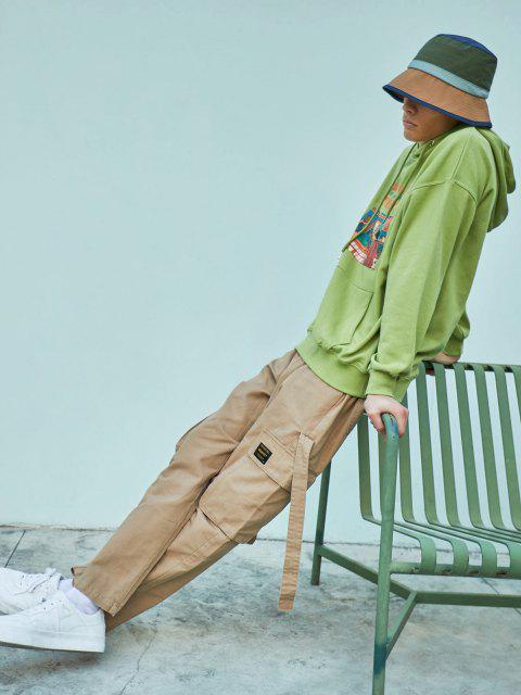 Sweat à Capuche DécontractéGraphique avec Poche - Vert clair XL Mobile