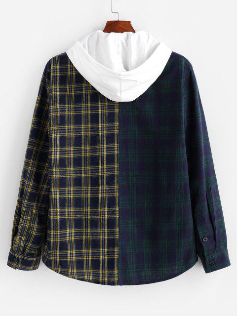 buy Two Tone Plaid Shirt - MULTI L Mobile