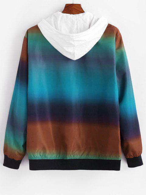 buy Zip Up Ombre Print Jacket - MULTI 2XL Mobile