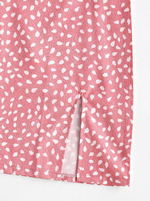 shops Speckled Print Slit Mini Skirt - LIGHT PINK M Mobile