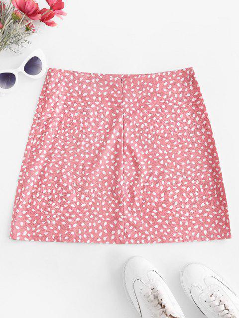 Speckled Print Slit Mini Skirt - وردي فاتح S Mobile