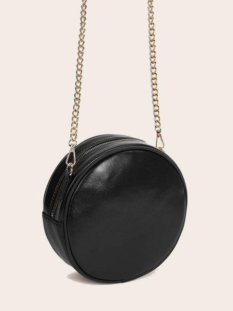 trendy Rivet Quilted Crossbody Canteen Bag - BLACK  Mobile