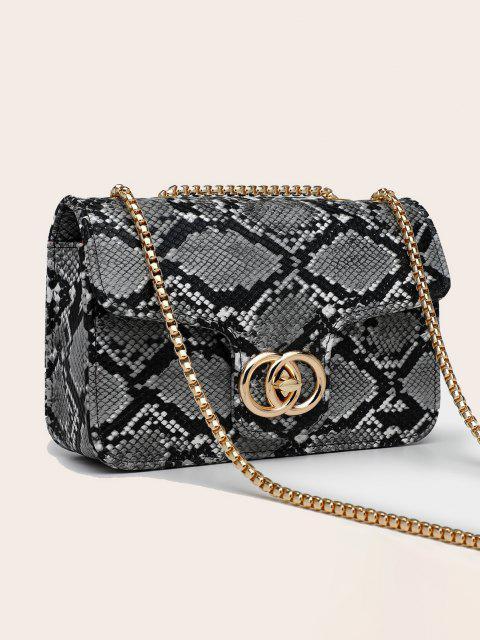 fancy Retro Snakeskin Pattern Chain Bag - GRAY  Mobile