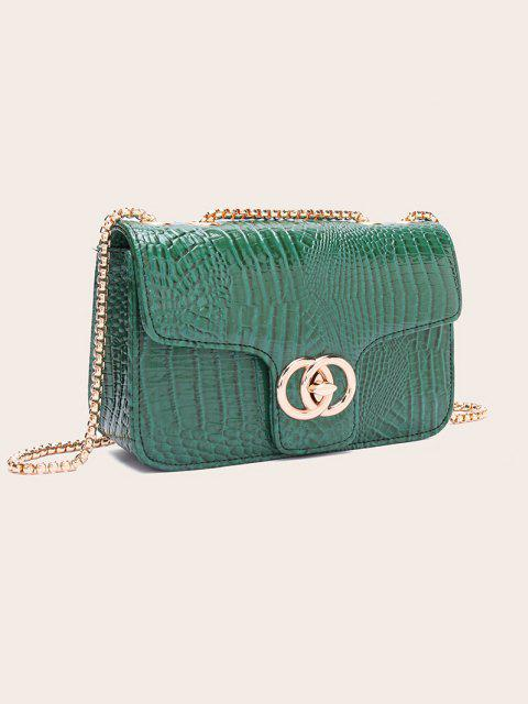 sale Retro Snakeskin Pattern Chain Bag - MEDIUM FOREST GREEN  Mobile