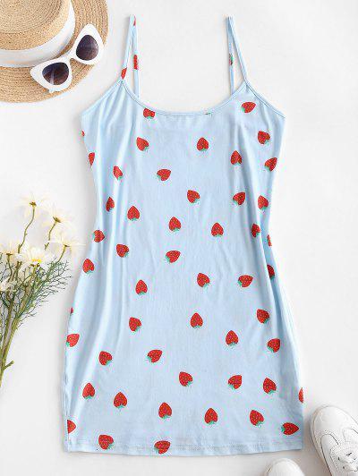 Zaufful Cami Strawberry Slinky Minikleid - Hellblau S