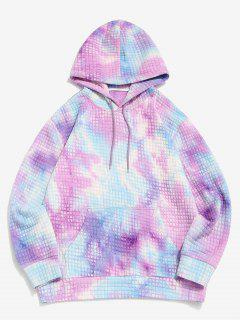 Sweat à Capuche Pull-over Teinté Imprimé - Violet Clair L