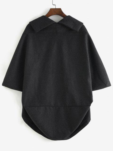 Abrigo Capa Abertura Frontal - Gris Oscuro L Mobile