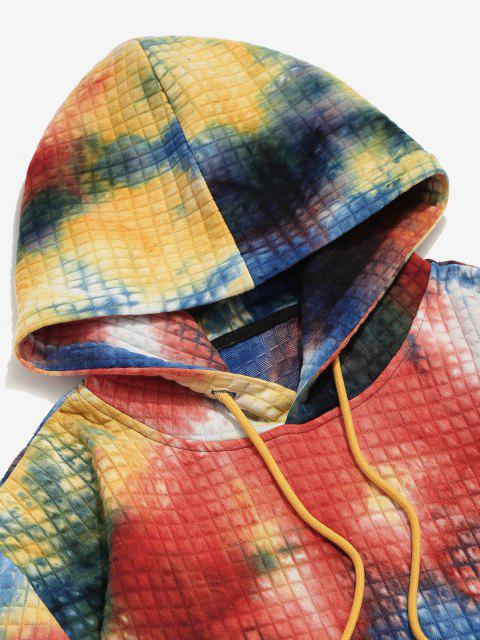 Krawattenfärbende Druck Kapuze Hoodie - Rot S Mobile