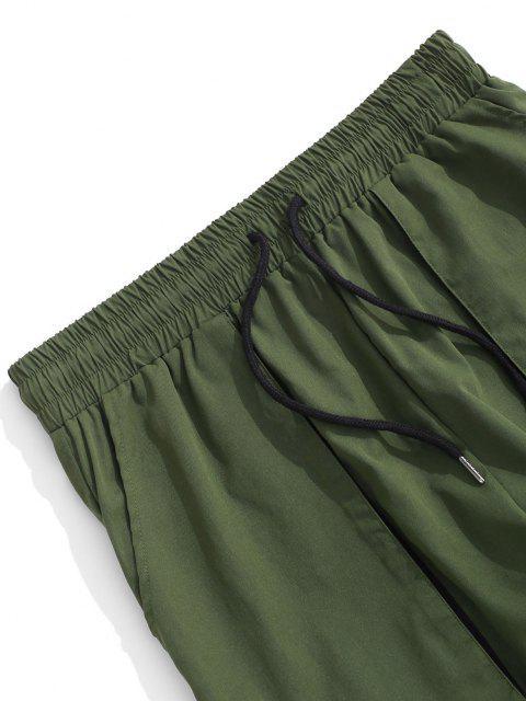Pantalones de Cargo con Correa Hebilla - Verde Oscuro XL Mobile