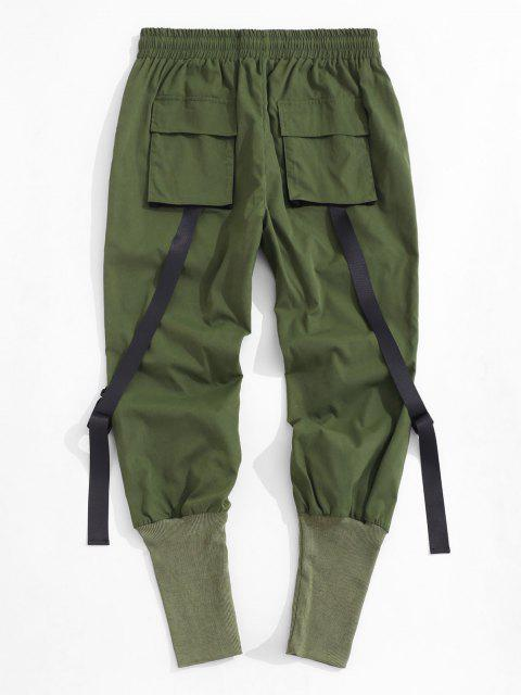 Pantalones de Cargo con Correa Hebilla - Verde Oscuro S Mobile