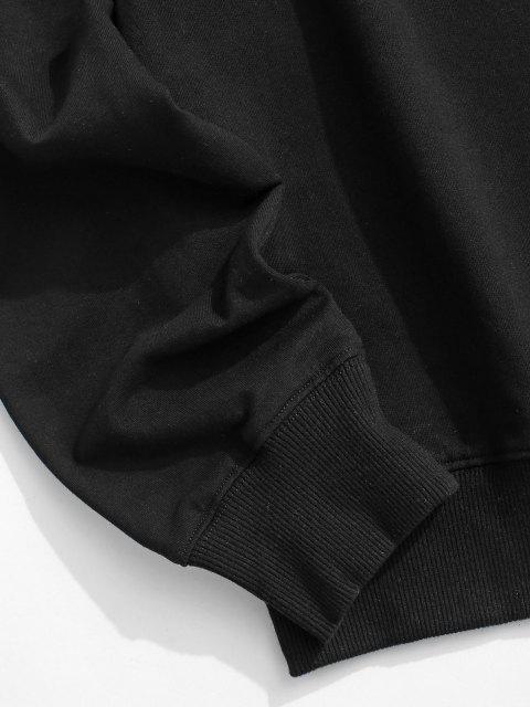 Sweat-shirt Ras du Cou Imprimé Brooklyn à Manches Longues - Noir XXL Mobile