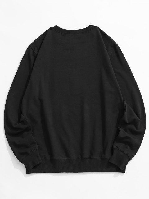 best Crew Neck Brooklyn Sweatshirt - BLACK XS Mobile