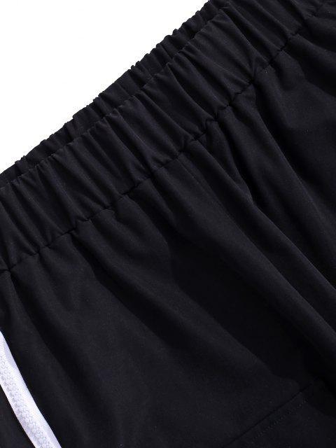 Pantalones de Cargo con Estampada de Letras - Negro XL Mobile