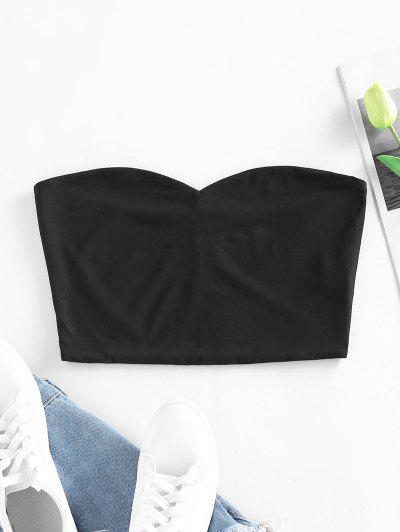 ZAFUL Plain Crop Tube Top - Black S