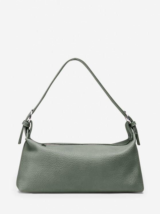 affordable Solid Work Shoulder Bag - DARK SEA GREEN