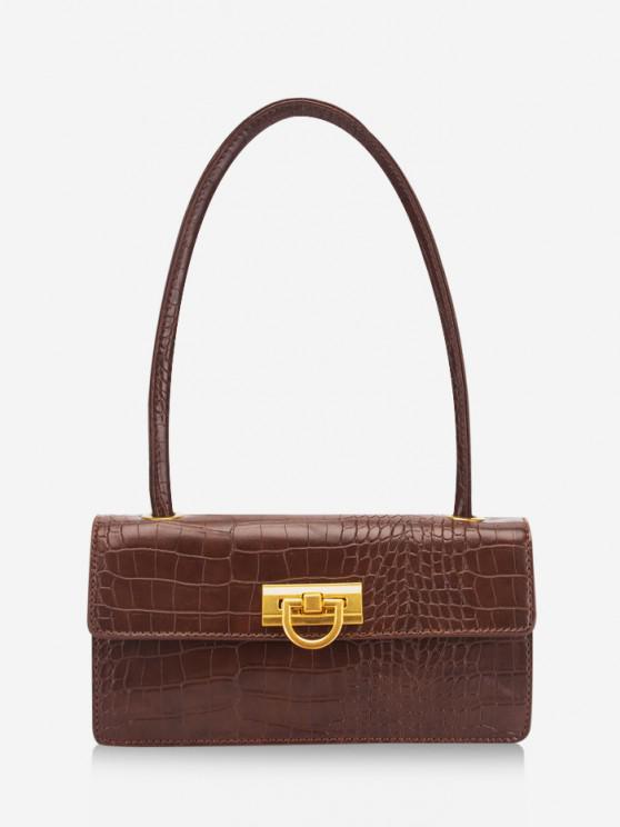 new Rectangle Retro Shoulder Bag - SEPIA