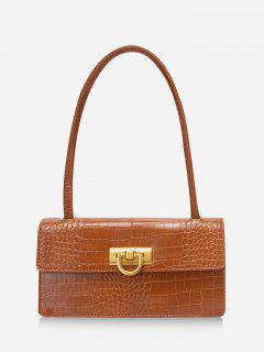 Rectangle Retro Shoulder Bag - Light Brown