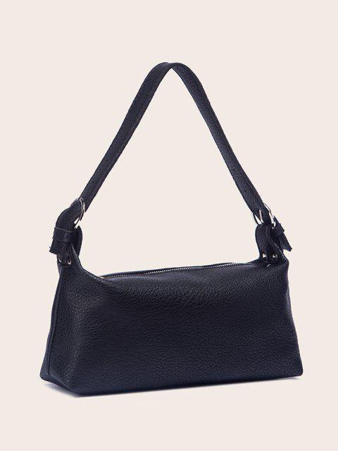 sale Solid Work Shoulder Bag - BLACK  Mobile