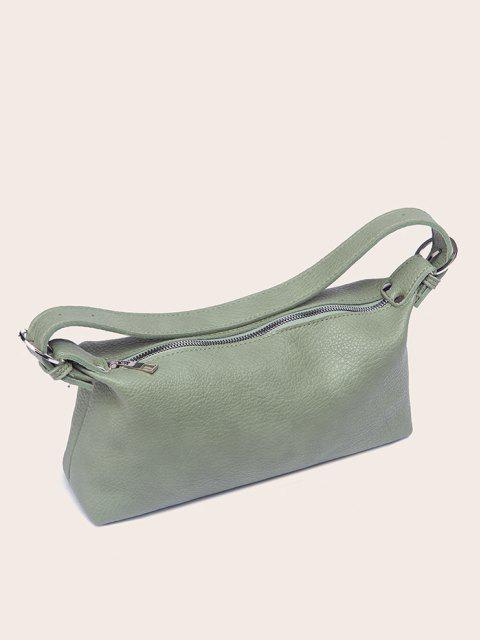 affordable Solid Work Shoulder Bag - DARK SEA GREEN  Mobile