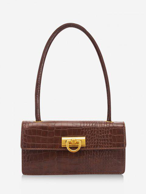 new Rectangle Retro Shoulder Bag - SEPIA  Mobile