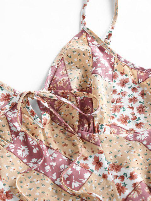 ZAFUL Mini Vestido en a Floral Atado - Multicolor L Mobile