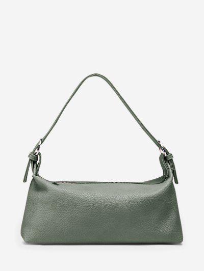 Solid Work Shoulder Bag - Dark Sea Green