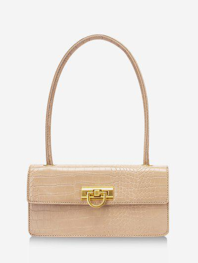 Rectangle Retro Shoulder Bag - Blanched Almond