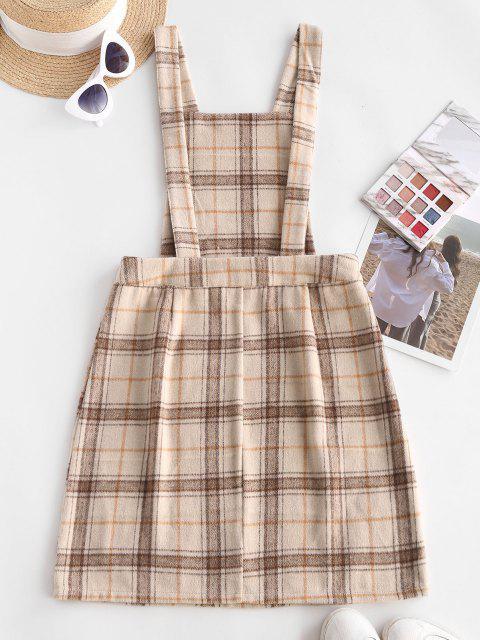 Robe Écossaise Style Universitaire en Tissus Mixte de Laines - café lumière M Mobile
