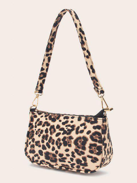 womens Leopard Printed Work Shoulder Bag - MULTI-A  Mobile