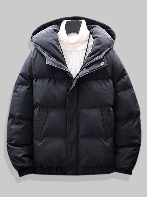 Veste à Capuche Simple Matelassée à Goutte Epaule - Noir 3XL Mobile