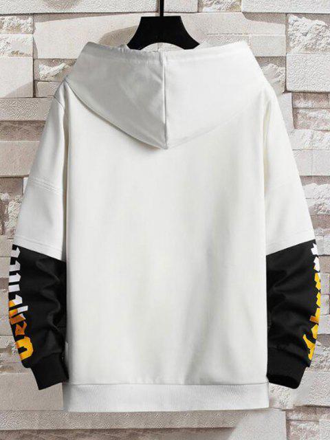 Sudadera con Capucha de Estampado de Letras - Blanco M Mobile