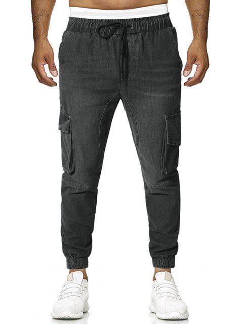 Pantaloni con Tasche con Patta - Grigio XL Mobile