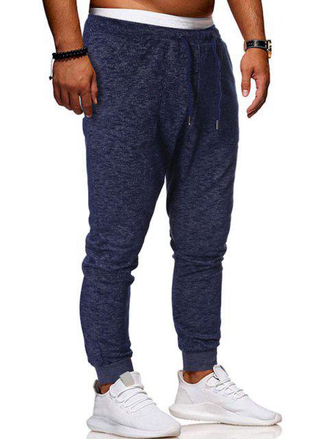 Pantalones Deportivos Cordones - Azul Profundo XS Mobile