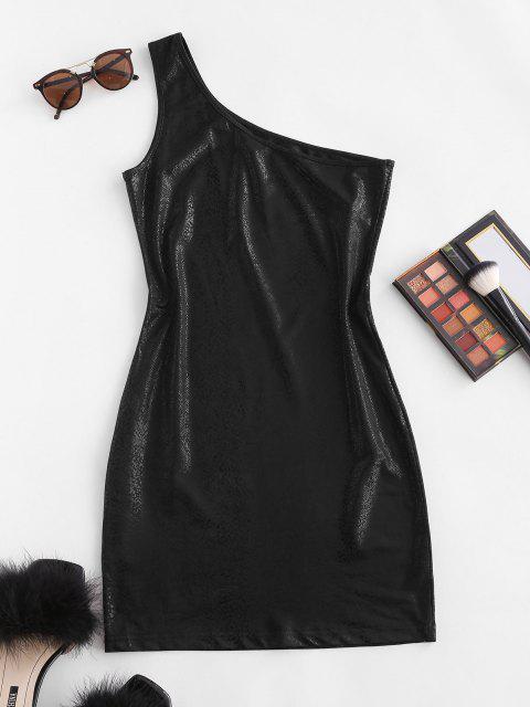 Mini Vestito Aderente a Monospalla - Nero L Mobile