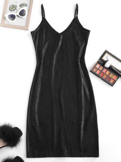 Metallic Cami Bodycon Dress - Black M