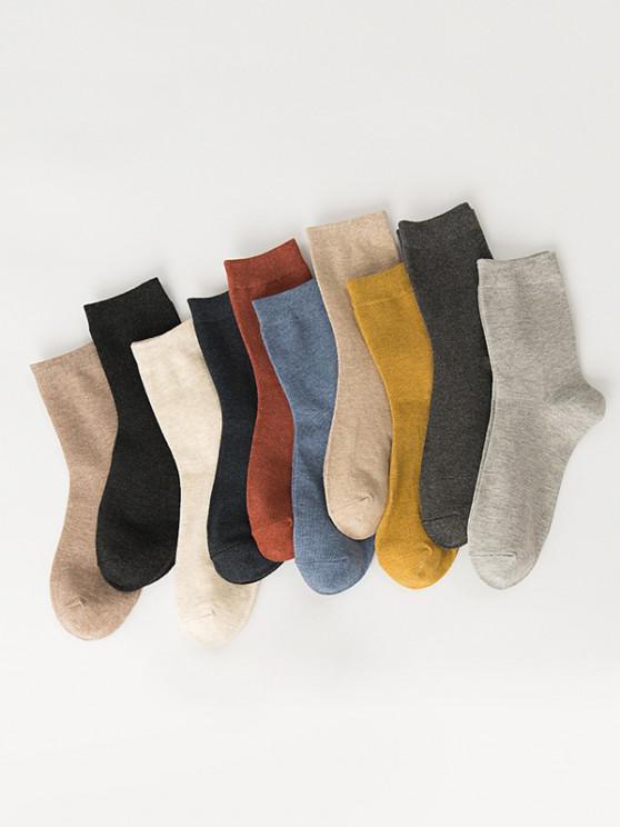 hot 10 Pairs Cotton Quarter Socks Set - MULTI