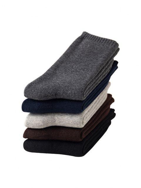 5 Paar Einfarbige Vlies Socken Set - Multi  Mobile