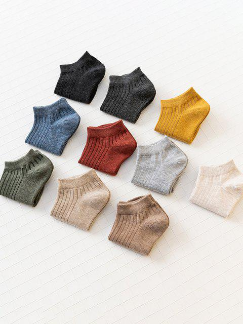 new 10 Pairs Solid Ankle Socks Set - MULTI  Mobile