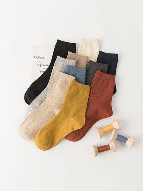 hot 10 Pairs Cotton Quarter Socks Set - MULTI  Mobile