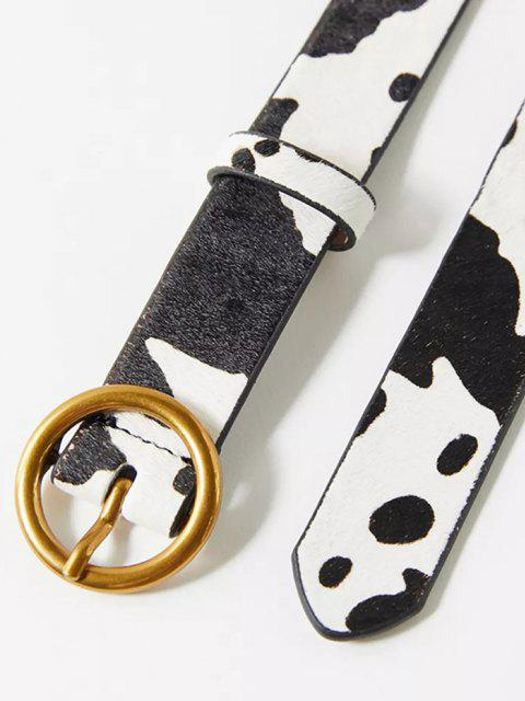 best Cow Print Pin Buckle Belt - MILK WHITE  Mobile