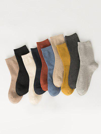 10 Pairs Cotton Quarter Socks Set - Multi