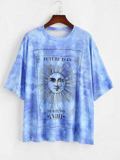 ZAFUL T-shirt Soleil Coloré Imprimé De Grande Taille - Bleu 4xl
