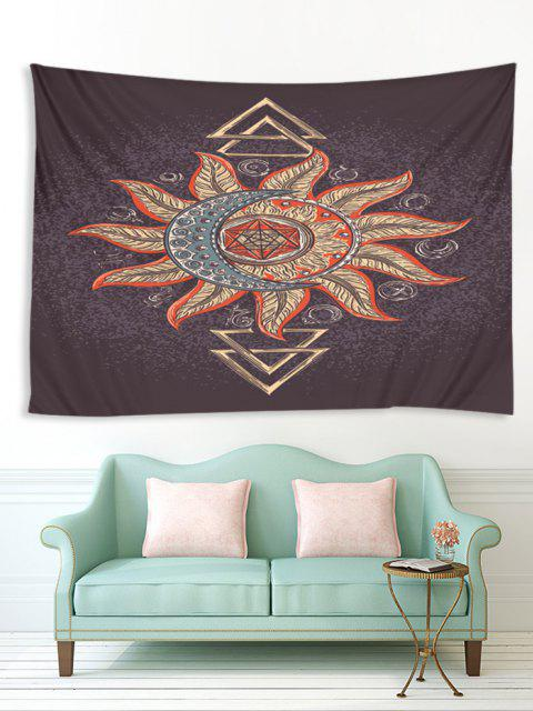 womens Totem Sun And Moon Pattern Waterproof Tapestry - MULTI-I W91 X L71 INCH Mobile