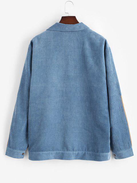 Jaqueta de Veludo Colorido Painel Bloco de Cores - Azul M Mobile