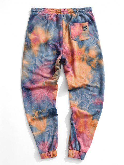 Pantalones de Jogger de Tie Dye con Cordón - Naranja XL Mobile