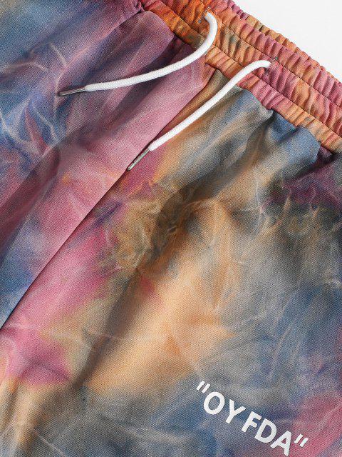 Pantalones de Jogger de Tie Dye con Cordón - Naranja S Mobile