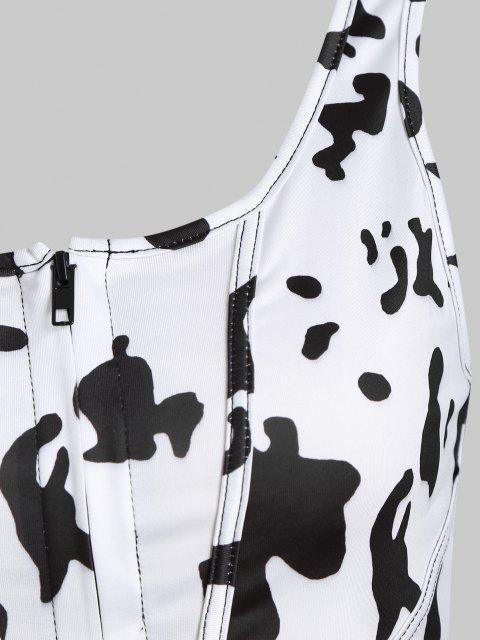 Corsetto Stampato Mucca con Zip - Bianca S Mobile