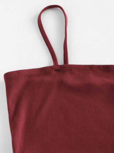 sale ZAFUL Ribbed Aztec Print Frayed Mini Skirt Set - MULTI S Mobile