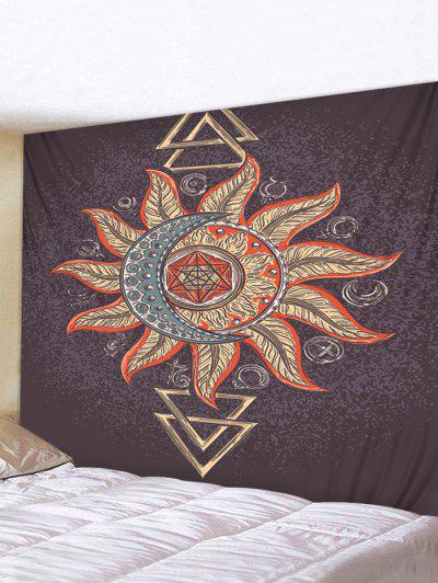 Totem Sun And Moon Pattern Waterproof Tapestry - Multi-i W91 X L71 Inch